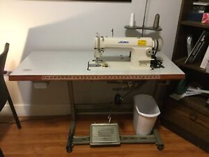 Sewing machine and custom sewing/work table