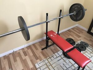 Olympic Weight and Bench Set