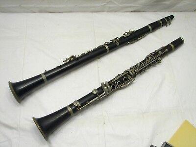 Pr Vintage Wooden Clarinets Thibouville Masson La Margue Wood Goldentone
