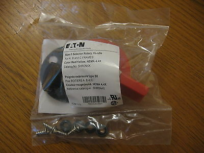 New Eaton Size 0 Selector Rotary Red Handle Switch On Off Shr0n4x