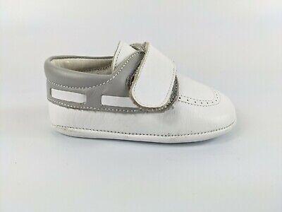 Andanines Baby White/grey Leather Shoes Uk 1 Eu 17