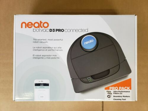 Neato Robotics Botvac D3 Pro App-Controlled Robot Vacuum Black/Gray 945-0287
