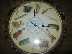 Wall Clock with Musical Instruments on Display