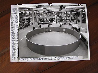 1965 B W Press Photo Saturn V Separation Ring At General Dynamics Corp  Texas