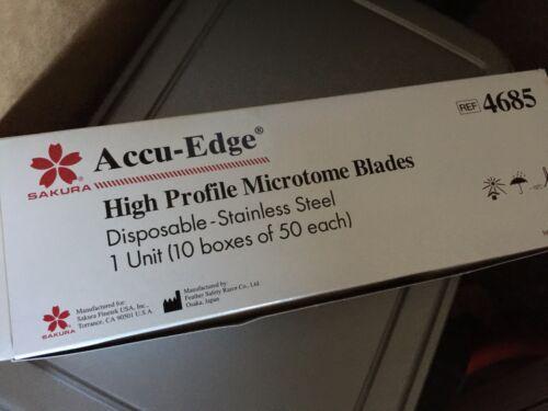 Sakura Finetek Accu Edge #4685 High Profile Microtome Blades - CASE of 500