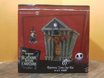 NEW Dept 56 Halloween Town City Hall Mayor Nightmare Before Christmas Village