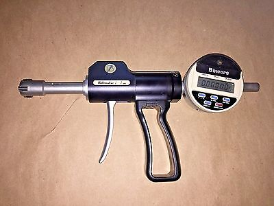 Fowler Bowers Pistol Grip Holematic 14 - 34 Bore Gage With 1 Attachments