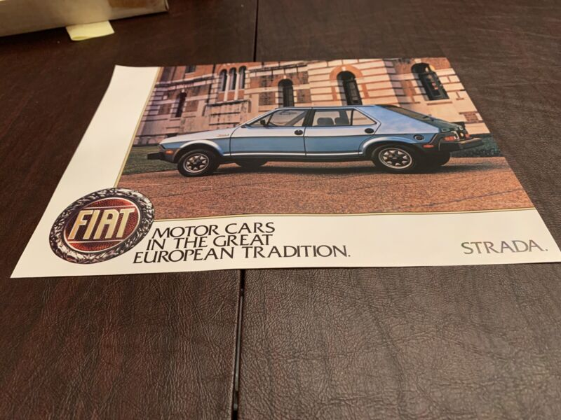 Original Fiat Strada Brochures Excellent Set Of 68