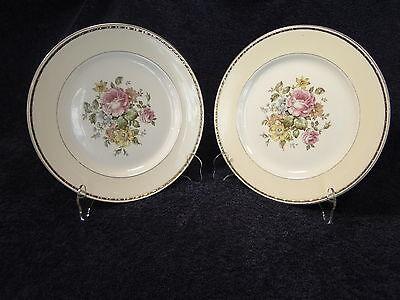 """Homer Laughlin Eggshell Georgian English Regency Dinner Plates 10"""" TWO Plates"""