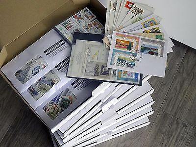 Briefmarken-Inventurkiste XL BRD hunderte Marken und Belege