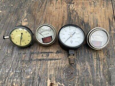 Lot Of 4 Pressurevolt Gauges Vintage Steampunk