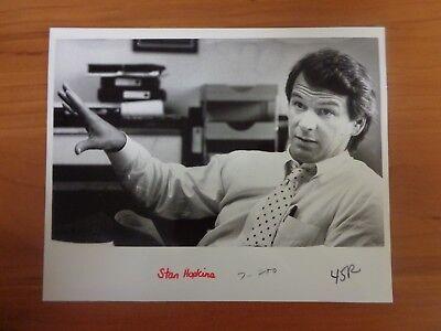 Vintage Glossy Press Photo Wbz Tv Channel 4 News Director Stan Hopkins