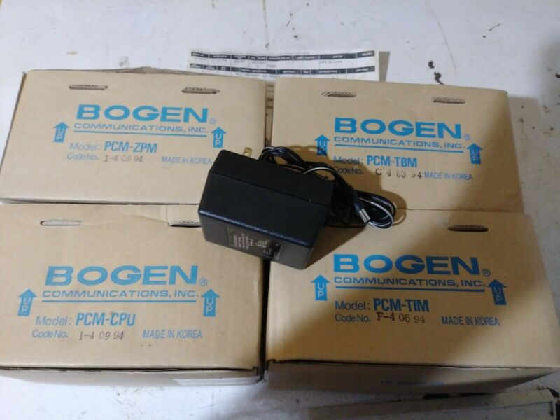 NEW BOGEN PCM-CPU, TBM, ZPM, TIM PAGING MODULES FOR PCM2000 SYSTEM MODULES LOT