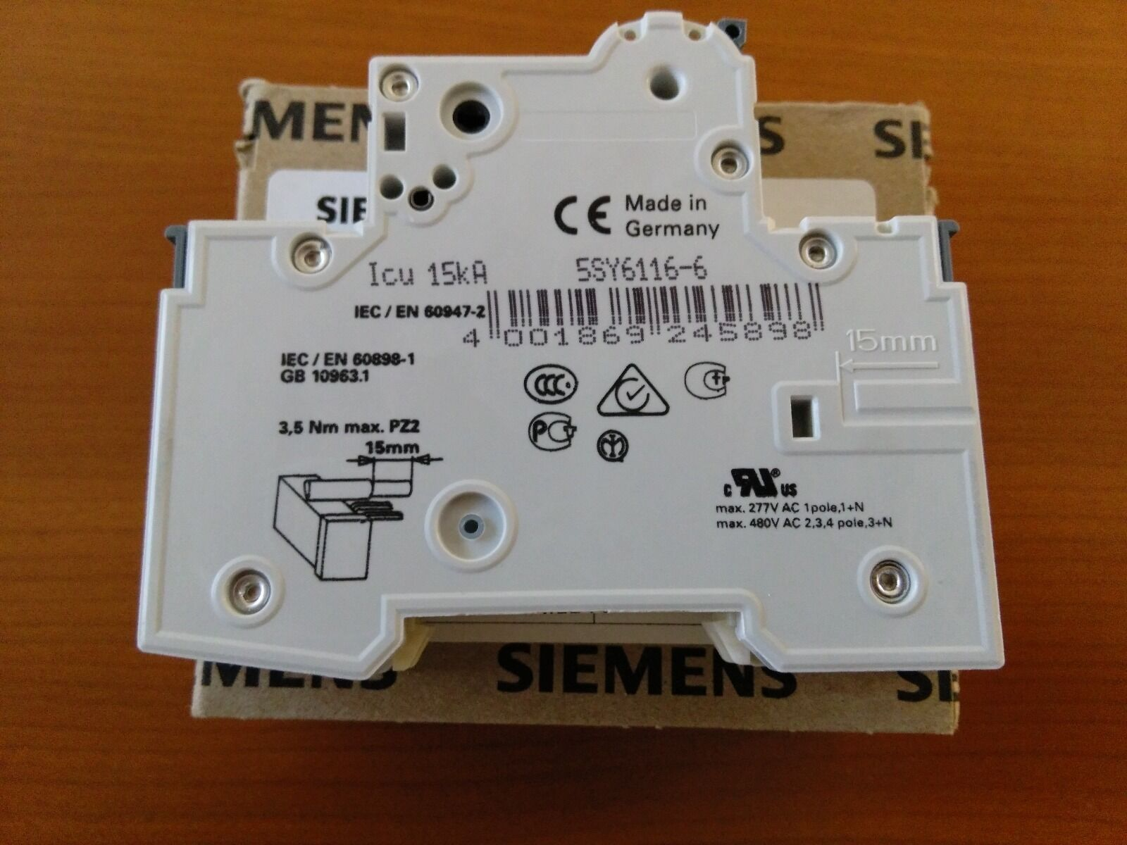 Lot Of 2 Siemens Circuit Breaker 5sy6 116 6 1 Pole 16 Amp 5sy6116 Details About 5sx21 C5 230 400v 5 4