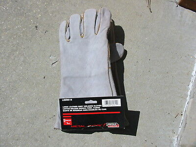 Lincoln Electric Cloth Lined Leather Welding Welder Gloves