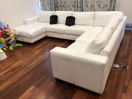 Luxury  5 Seater Leather Sofa Couch with Chaise