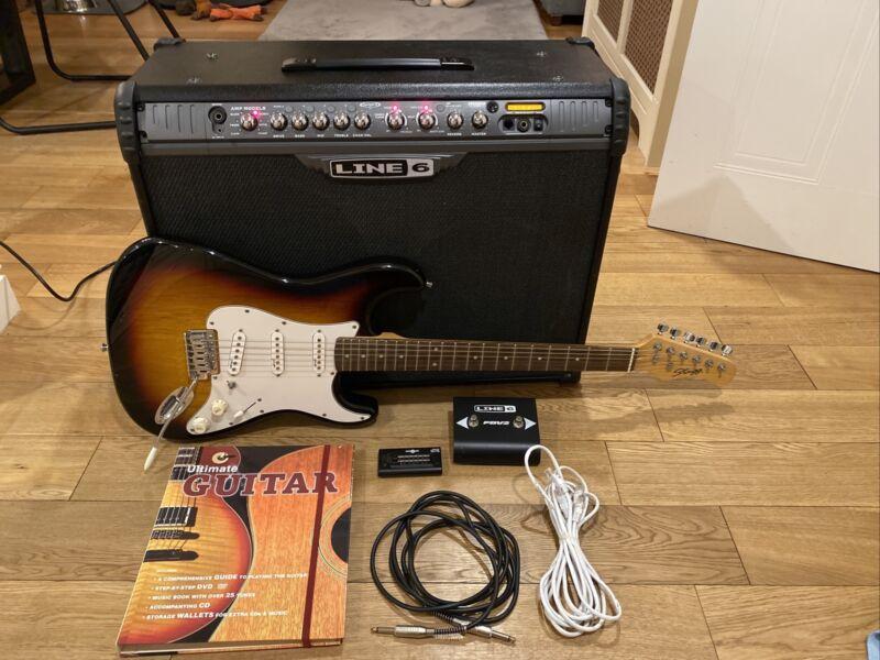 Line 6 Spider 3 150 Watt Amp, FBV2 & Stagg Guitar Bundle