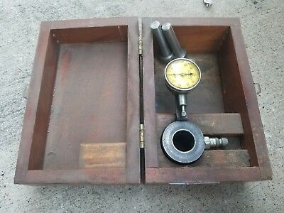 Ames Dial Indicator .001 AMES 101-B.C. Amees Co Dial Indicator With Wooden Box