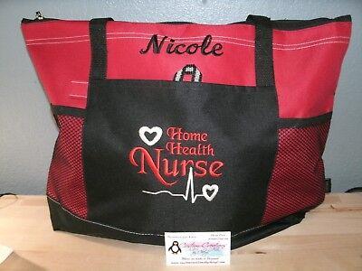 Home Health Nurse Personalized Tote Bag LPN, RN, CNA, HHA, QMA, BSN  Bag Health Tote Bag