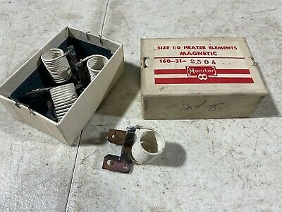 Lot Of Two Monitor Products Size 10 Heater Elements Magnetic 160-31-2.50a Nos