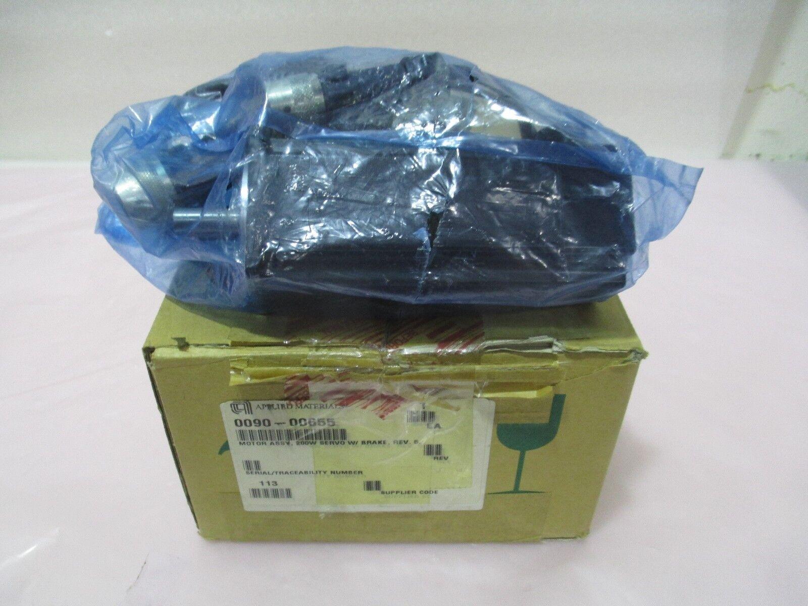 AMAT 0090-00655 Motor Assembly, 200w, Servo W/ Brake, Sanyo Denki, 421896