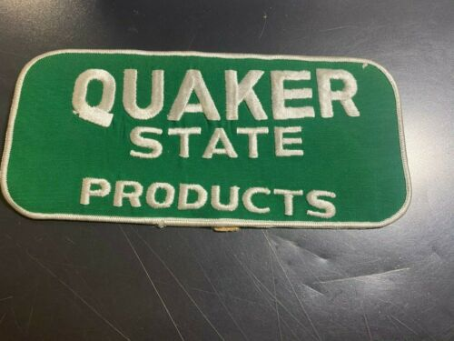 LARGE QUAKER STATE Products PATCH 9 X 4 1/8""