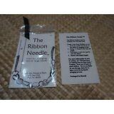 "Kukui Nut Lei Needle  ""The Ribbon Needle""  4"" Length Stainless Steel"