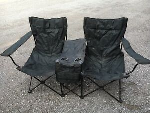Collapsible double camping chair