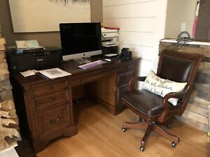 Complete Office Matching Solid Wood Furniture