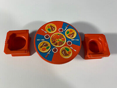 1974 Fisher Price Little People Play Family Castle 993 Replacement Dinner Table