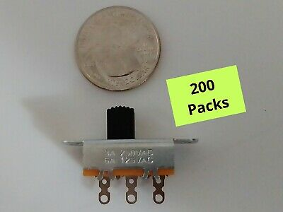 Spdt 3 Terminal Slide Switch Single Pole Double Throw 6 A 125 Vac 3 A 250 Vac
