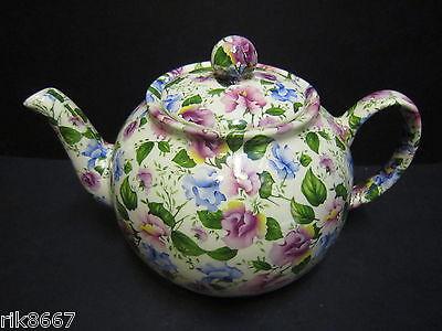 Heron Cross Pottery Sweet Pea Chintz 6-8 Cup English Tea Pot Sweet Pea Chintz