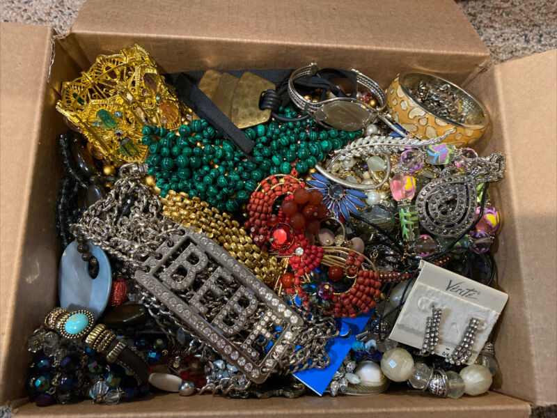 15 LB Pound Junk Jewelry Lot