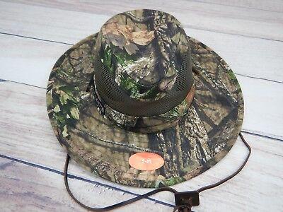 85979c623f5c7 Mossy Oak Camoflauge Camo Fishing Hunting Mens New Safari Cowboy Hat Cap S M