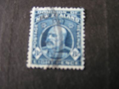 NEW ZEALAND, SCOTT # 138, 8p. VALUE DEEP BLUE 1909-12 KEV11 ISSUE USED