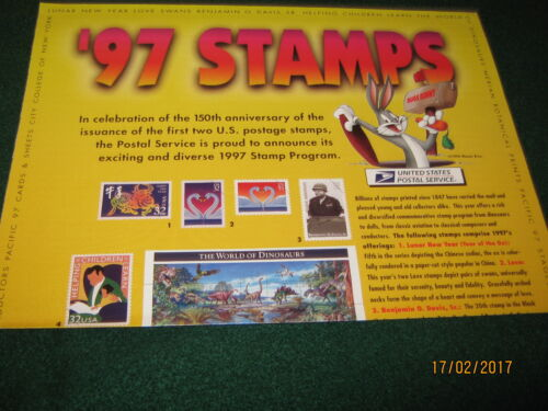 """USPS 1997 Stamp POSTER (29 Issues) MINT CONDITION 12"""" x 34""""s"""