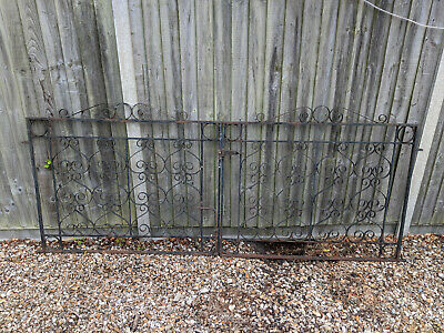 Ornate Wrought Iron Double Driveway Gates 238.7cm x 113.5cm Camberley Surrey