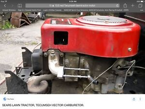 Wanted.  13.5 red Tecumseh lawn tractor engine.  In top shape