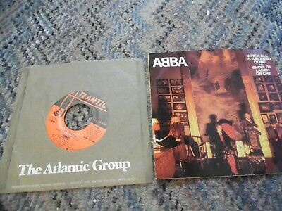 2 ABBA    45 rpm vinyl records- Super Trouper & When all is said & done