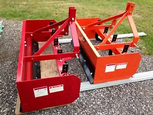 4' and 6' tractor Box Scraper Blades for 3 point hitch