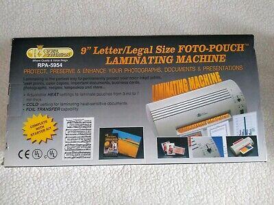 Rs Royal Sovereign Laminator Laminating Machine 9 Rpa-5954 Office Photo Tags