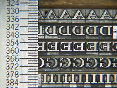 Craw Modern 10 Pt. - Letterpress - Metal Type - Printers Type