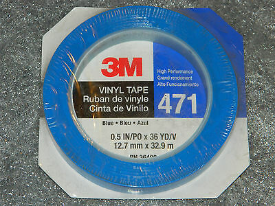 New Roll Of 3m 36408 471 Blue High Performance Vinyl Tape 12 Inch X 36 Yards