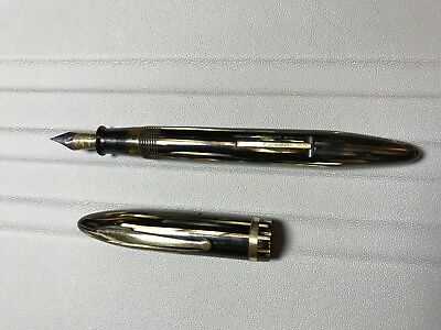 Restored Sheaffer's Balance Brown Striated Feather Touch Fountain Pen