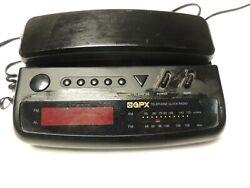 Grand Prix GPX Black Corded Telephone AM/FM Radio Alarm Clock DX800D Tested