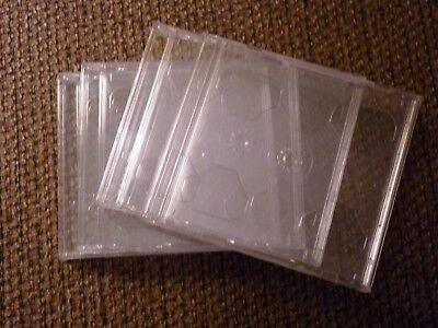 Standard Double Cd Jewel Case Box With Clear Tray 38 Thick 4-pack Nice Quality
