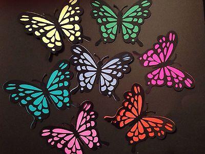 Butterfly Die Cut 3-D Handmade Card stock Paper Piecing Scrapbook Embellishment