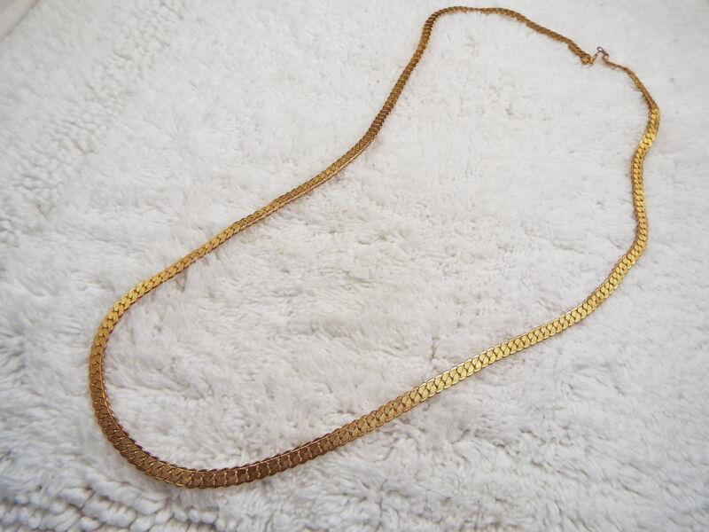 Goldtone Herringbone Necklace  (D6)