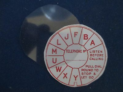 RED Dial Label & Flat Acetate Disc - Vintage Bakelite & Wooden Telephones NEW
