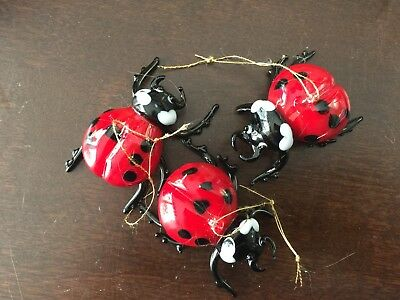 Hanging Ladybugs - set of 3